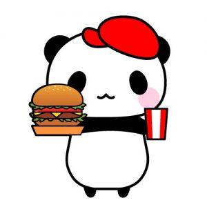 ハンバーガーショップ店員パンダ
