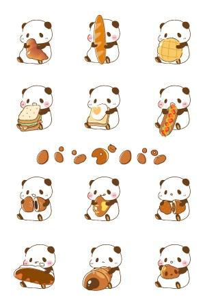 パンダのパン LINEきせかえ