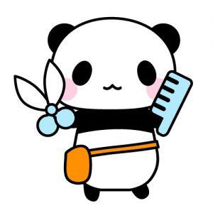 美容師パンダ