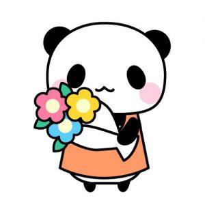 花束パンダ
