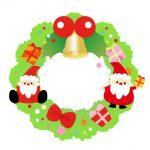 サンタとクリスマスリース