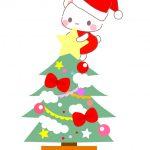 くまサンタクロースクリスマスツリー