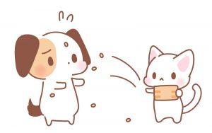 豆まき犬猫イラスト