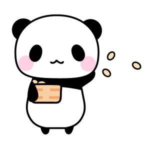 節分豆まきパンダ