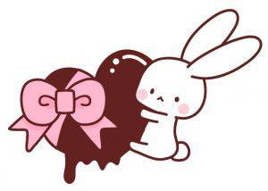 バレンタインチョコとうさぎ