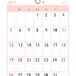 2017年3月うさぎカレンダー