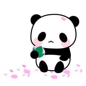桜餅とパンダ