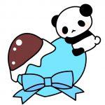 ホワイトデーパンダのフリーイラスト