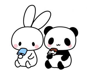 うさぎとパンダアイス