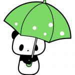傘を持ったパンダのフリーイラスト