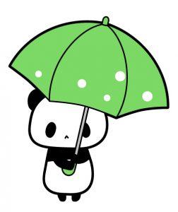 傘を持ったパンダイラスト