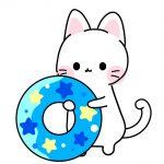 浮き輪を持った猫のフリーイラスト
