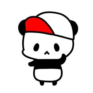 赤白帽子パンダ