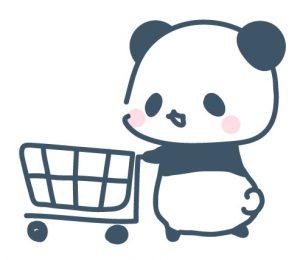 ショッピングカートをおすパンダ