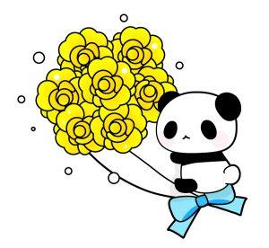 父の日パンダ黄色いブーケ