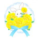 父の日花束うさぎのフリーイラスト素材