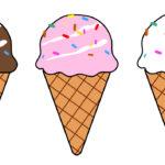 アイスクリームのフリー素材