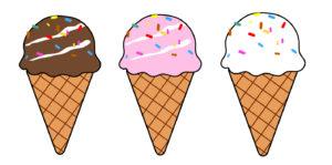 アイスクリームフリー素材