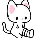 足に包帯をまいた猫のフリーイラスト