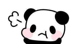 プンプン怒っているパンダのフリーイラスト