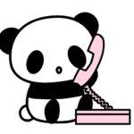 電話をするパンダのフリーイラスト