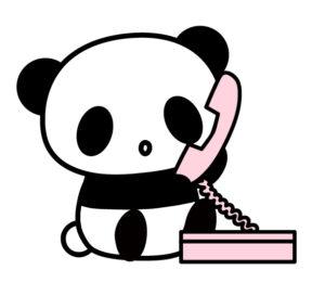 電話するパンダのイラスト