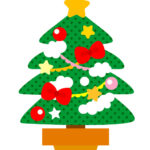 クリスマスツリーのフリーイラスト