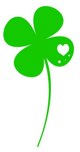 幸せを呼ぶ四つ葉のクローバーフリー素材 パンダ動物かわいいフリー