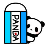 消しゴムとパンダのフリーイラスト