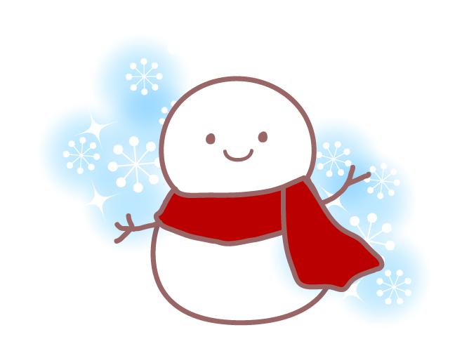 雪だるまのフリーイラスト パンダ動物かわいいフリーイラスト