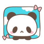 パンダと青空のフリーアイコン