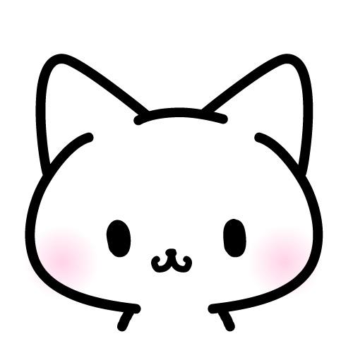猫 顔だけフリーイラスト パンダ 動物かわいいフリーイラスト