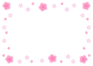 桜フレーム枠