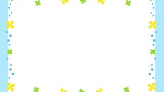 四つ葉のクローバーフレーム飾り枠