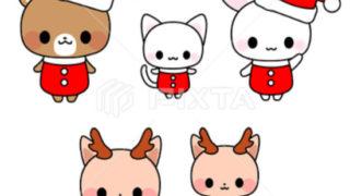 クリスマス素材☆販売・パンダ・くま・うさぎ・猫イラストアイコン