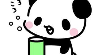 【期間限定フリーイラスト】うがい手洗いアルコール消毒マスク感染予防のイラストパンダ