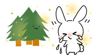 【リメイク】花粉つらすぎる・くしゃみうさぎフリーイラスト素材