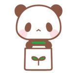 エコバッグを持ったパンダのフリーイラスト素材
