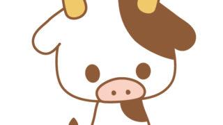 正月前の牛さんのフリーイラスト・アイコン素材