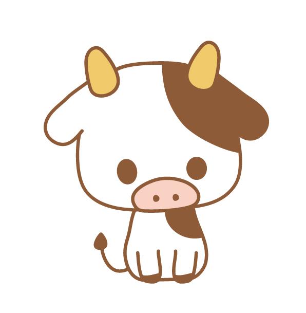 正月前の牛さんのフリーイラスト・アイコン素材 | パンダ・動物かわいいフリーイラスト