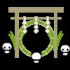 夏越の祓・茅の輪くぐりのイラスト素材(透過PNG)